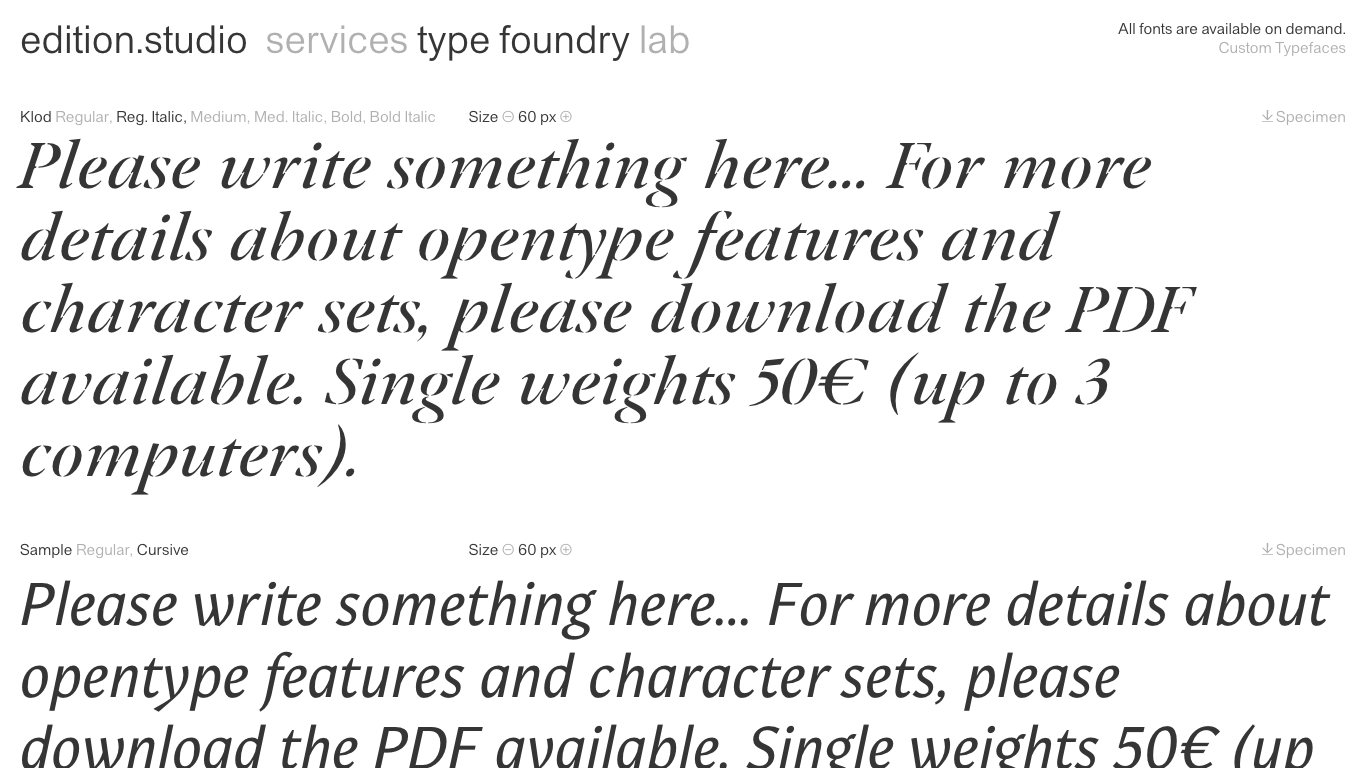 Type Foundry Directory